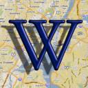 Wikipedia auf der Karte